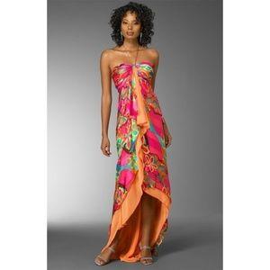 Colorful Halter Prom Formal Long Sarong Dress 4